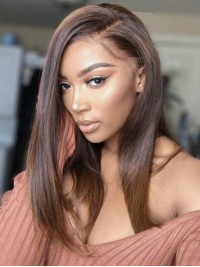 Long Straight 360 Lace Frontal Remy Human Hair Wig