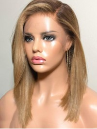 Long Straight 360 Lace Human Hair Wig 14 Inches
