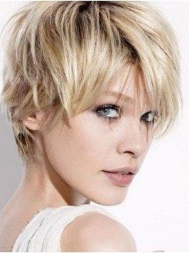 Layered Blonde Straight Full Lace Human Hair Wigs ...