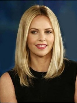 Blonde Central Human Hair Straight Lace Front Wigs...