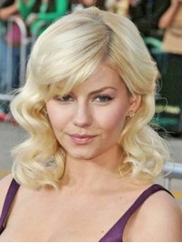 Blonde Wavy Lace Front Human Hair Wigs 14 Inches
