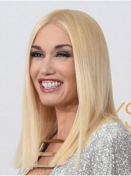 Gwen Stefani Blonde Central Parting Straight Lace ...