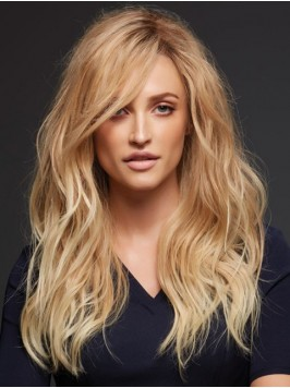 Blonde Long Wavy Lace Front Remy Human Hair Wigs W...