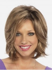 Short Central Parting Capless Remy Human Hair Straight Wigs 10 Inches