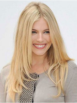 Central Parting Blonde Long Straight Human Hair Ca...