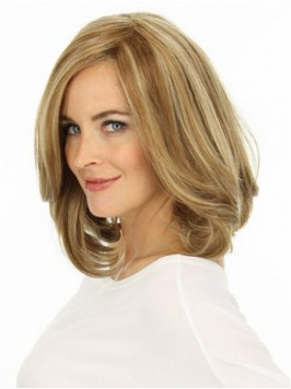 Blonde Medium Wavy Lace Front Remy Human Hair Wigs...
