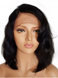 Human Hair With Women'S Virgin Hair Wavy Lace Wigs 14 Inches