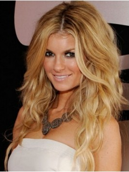 Marisa Miller Blonde Central Parting Long Lace Fro...