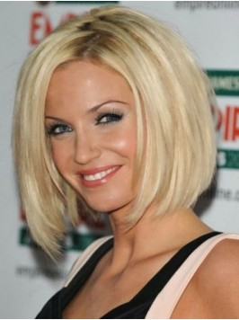 Lace Front Blonde Short Straight Wigs
