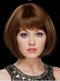 Popular Straight Capless Human Hair Wigs 12 Inches