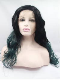 """24"""" Two Tone Colors Curly Lace Front Synthetic Wigs"""