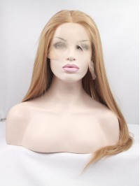 """18"""" Blonde Lace Front Straight Synthetic Wigs"""