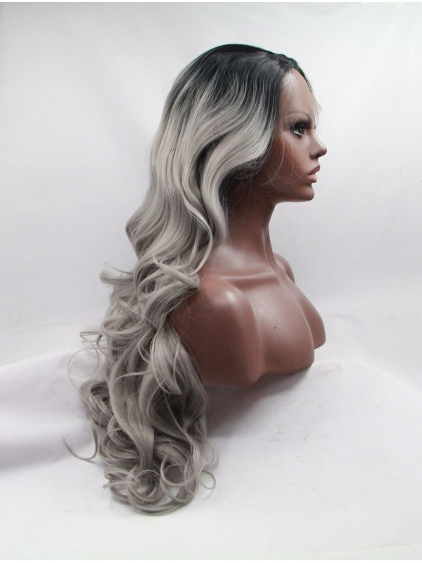 Layered Curly Ombre Capless Synthetic Wigs