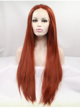 Long Ombre Lace Front Layered Straight Synthetic W...