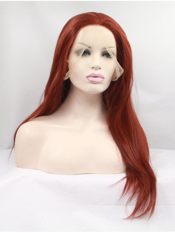 Long Ombre Lace Front Layered Straight Synthetic Wigs