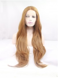 Long Ombre Lace Front Layered Wavy Synthetic Wigs