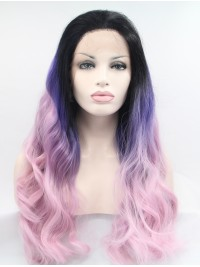 """32"""" Wavy Ombre Synthetic Lace Front Wigs"""
