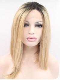 Long Wavy Blonde Lace Front Wigs