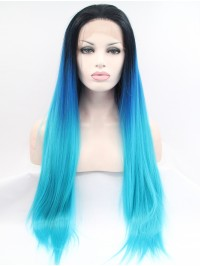 """28"""" Ombre  Synthetic Lace Front Wigs"""