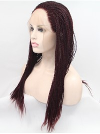"""26"""" Straight Black Synthetic Long Lace Front Wigs"""