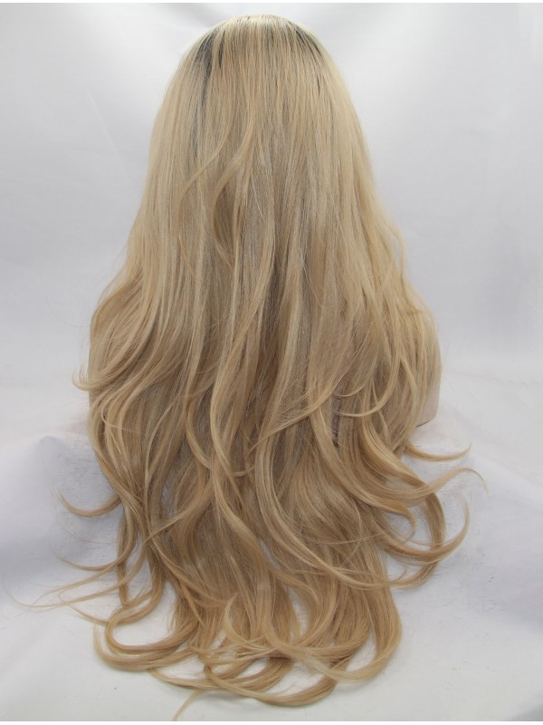 """28"""" Wavy Black Layered Long Lace Front Wigs"""