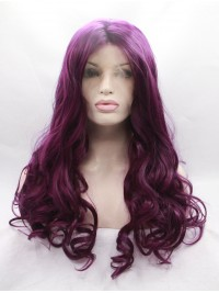 Black Curly  Synthetic Lace Front Wigs