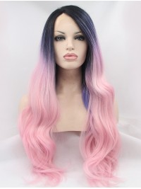 Wavy Black Lace Front Synthetic Wigs
