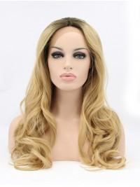 """30"""" Curly Blonde Layered Synthetic Lace Front Wigs"""