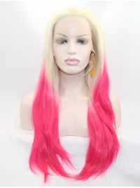 """30"""" Straight Ombre Layered Lace Front Long Synthetic Wigs"""