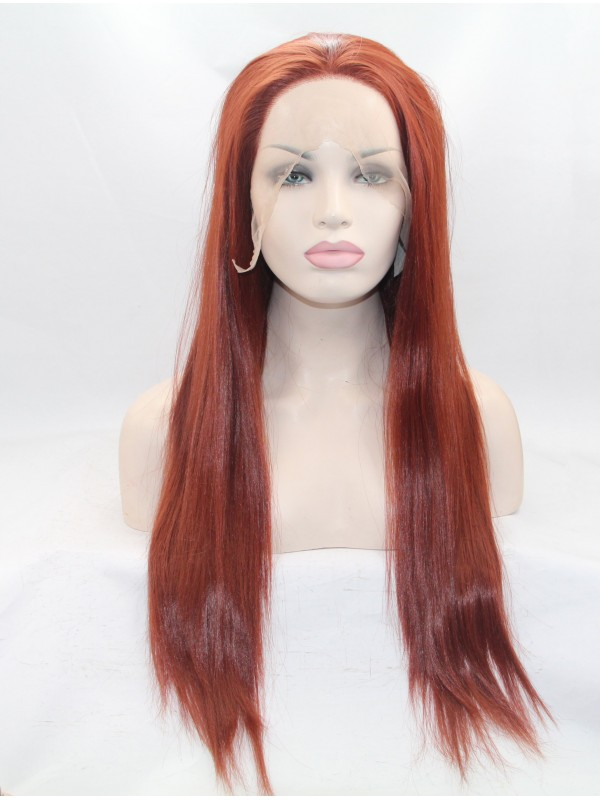 """24"""" Wavy Black  Lace Front Synthetic Wigs"""