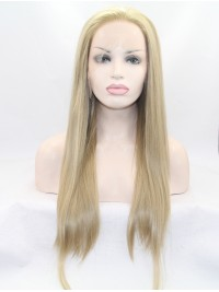 """24"""" Wavy Blonde  Lace Front Synthetic Wigs"""
