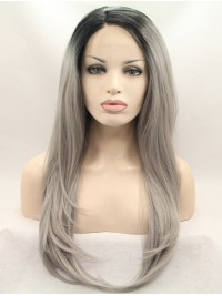 """28"""" Straight Ombre Layered Lace Front Synthetic Wigs"""