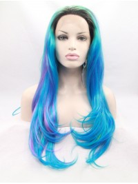 Layered Ombre Straight Lace Front Synthetic Wigs
