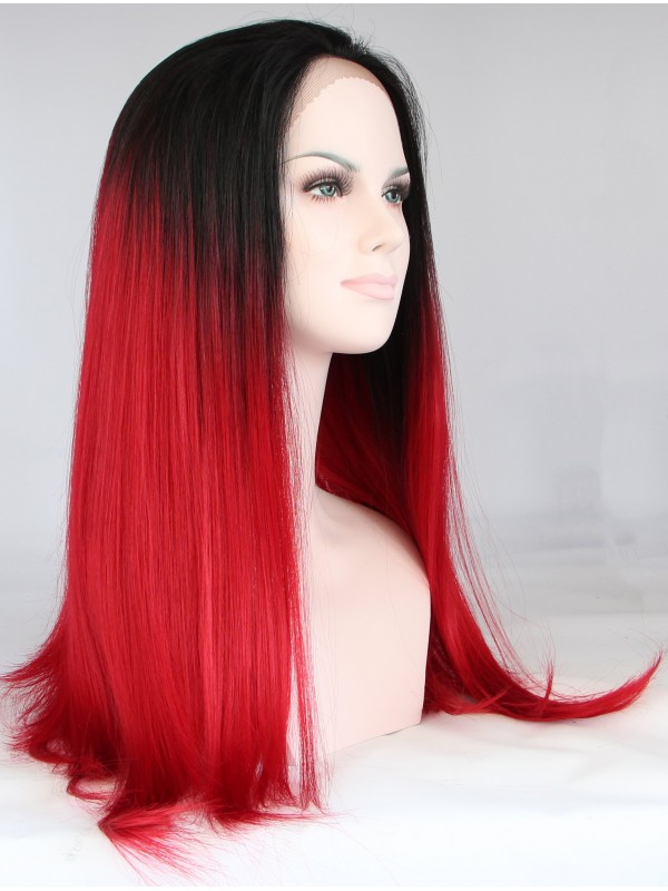 """30"""" Straight Ombre Synthetic Lace Front Wigs"""