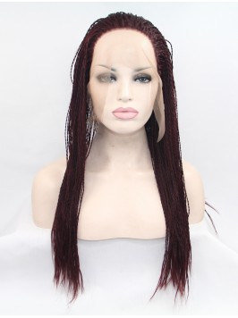 Long Black  Lace Front Curly Synthetic Wigs