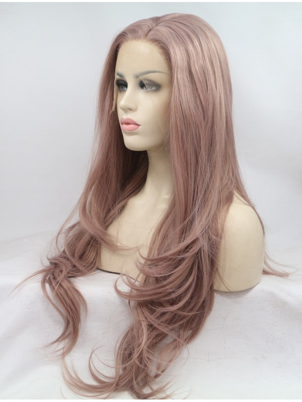 Long Layered Lace Front Wavy Synthetic Wigs