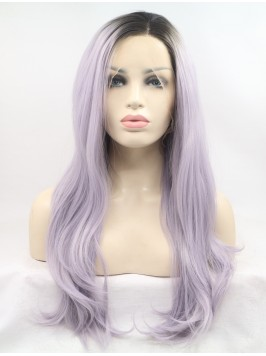 Long  Wavy Lace Front Wavy Synthetic Wigs