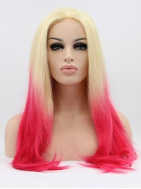 """24"""" Ombre  Lace Front Straight Synthetic Wigs"""