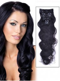 7 Piece Body Wave Clip In Indian Remy Human Hair Extension