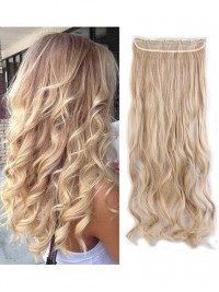 5 Clips Extensions Hair Pieces Clip In Curly Half Full Head