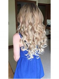 Full Head Hairpiece Wavy Curled Or Straight Heat Resisting