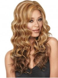 Ombre Central Parting Long Wavy Capless Synthetic Wig 22 Inches