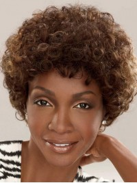 Afro-Hair Medium Curly Capless Synthetic Wig 10 Inches