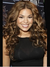 Jordin Sparks Long Central Parting Wavy Lace Front Synthetic Wig 20 Inches