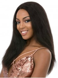 Central Parting Long Straight Lace Front Human Hair Wigs 20 Inches