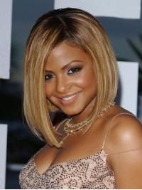 Bob Style Short Straight Lace Front Human Hair Wig With Side Bangs 12 Inches