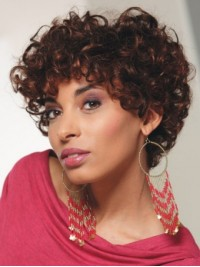 Layered Short Curly Capless Synthetic Wig 10 Inches