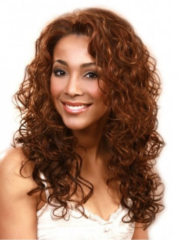 Brown Long Curly Lace Front Wig