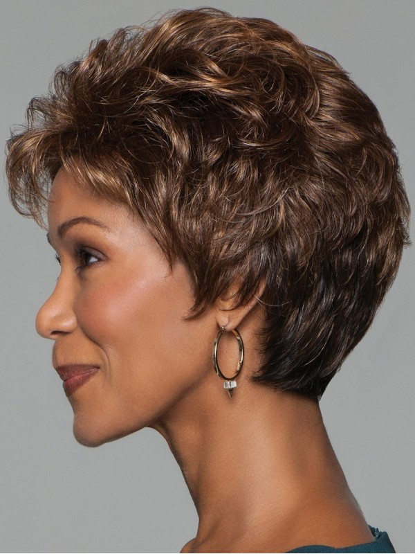 Brown Short Curly Wig