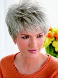 Comfortable Short Straight Lace Front Synthetic Hair Wigs 8 Inches